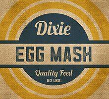 Vintage Burlap Dixie Egg Mash Feed Sack by marceejean