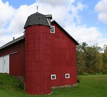 REDREAMING BARN WITH SILO by REDREAMER
