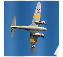 Avro Anson T.21 WD413 G-VROE banking Poster