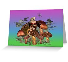 Dragonfly days .. a dreaming fairy Greeting Card