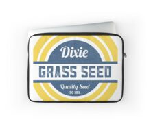 Dixie Grass Seed Vintage Feed Sack typography Laptop Sleeve