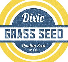 Dixie Grass Seed Vintage Feed Sack typography by marceejean