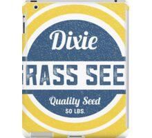 Dixie Grass Seed Vintage Feed Sack typography iPad Case/Skin