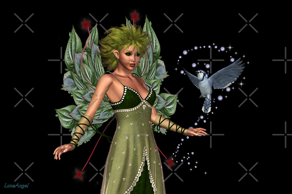 The Fae and a little bird by LoneAngel