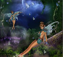 Moonlit Dreams & Butterflies by Lisa  Weber