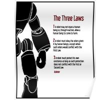 Isaac Asimov | I Robot | The Laws of Robotics Poster