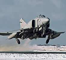 Phantom FGR.2 XV466/E taking-off at Stanley by Colin Smedley