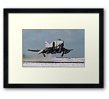 Phantom FGR.2 XV466/E taking-off at Stanley Framed Print