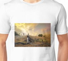 Bikers in colorful Sunset Unisex T-Shirt