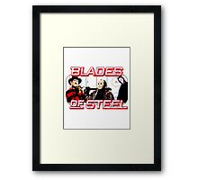 Blades of Steel ... and horror Framed Print