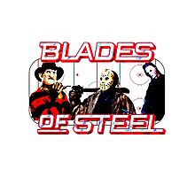 Blades of Steel ... and horror Photographic Print