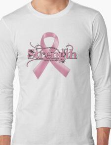 Strength Pink Ribbon Long Sleeve T-Shirt