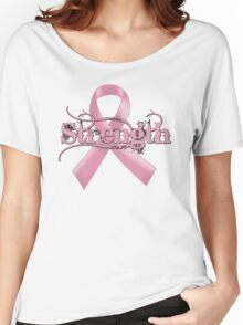Strength Pink Ribbon Women's Relaxed Fit T-Shirt