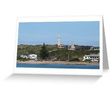 Little Town of Beachport taken from the Jetty. Limestone Cst. S.Aust. Greeting Card