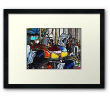 Carrousel Ponies Framed Print