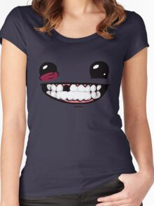Super Meat Boy Women's Fitted Scoop T-Shirt