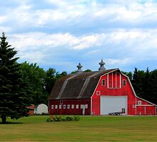 Two Cupola Barn by Larry Trupp
