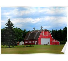 Two Cupola Barn Poster