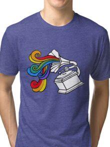 Gramophone Rainbow Tri-blend T-Shirt