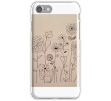 Happy Flower Doodles iPhone Case/Skin