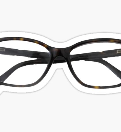 Tortoiseshell Glasses Designer Sticker - Hipster/Trendy Fashion Sticker