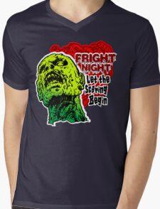 Fright Night Zombie Mens V-Neck T-Shirt