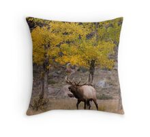 Fall Elk Throw Pillow