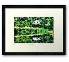 Reflected house Framed Print