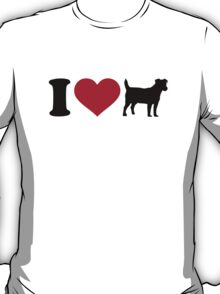 I love Jack Russell terrier T-Shirt