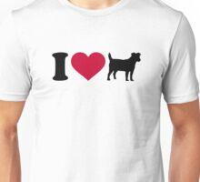 I love Jack Russell terrier Unisex T-Shirt