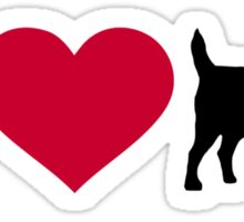 I love Jack Russell terrier Sticker