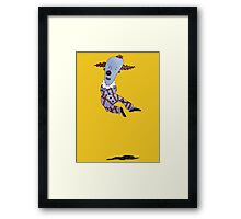 Levitating Clown Framed Print
