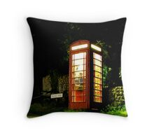 Piddinghoe Telephone Box Throw Pillow