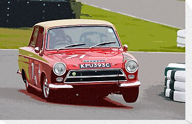 Lotus Cortina at Goodwood by Paul Bailey