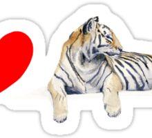 I love Tigers (long) Sticker