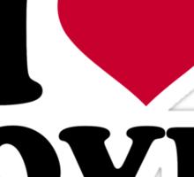 I love doves Sticker