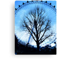 A tree in the Eye of London Canvas Print