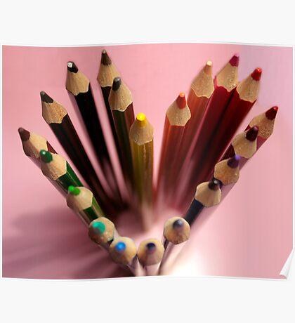 Crayon heart Poster