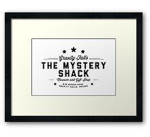 The Mystery Shack Black on White Framed Print