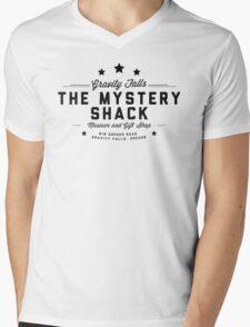 The Mystery Shack Black on White Mens V-Neck T-Shirt