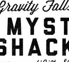 The Mystery Shack Black on White Sticker