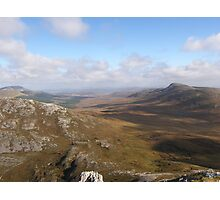 View from Errigal Mountain Donegal Ireland Photographic Print