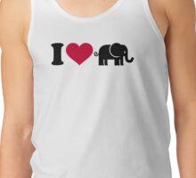 I love Elephants Tank Top