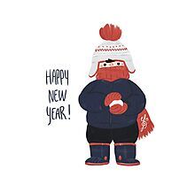 Happy New Year Card Photographic Print
