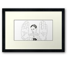 The awesome: Abed Nadir Framed Print