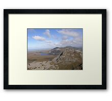 Mountain range view from Errigal Mountain Donegal Ireland Framed Print