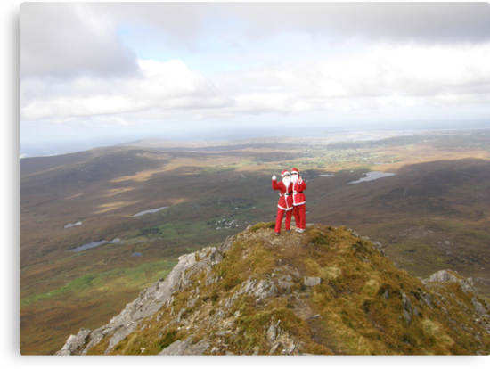 Santa on Errigal Mountain Donegal Ireland by mikequigley