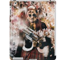 Crowned horror prom queen celebrating dead reunion iPad Case/Skin