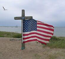 memorial flag WW2 veteran by Peter Cook