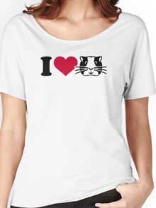 I love Hamster Guinea pig Women's Relaxed Fit T-Shirt